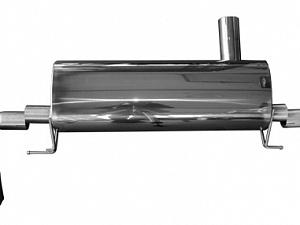 Спортивный глушитель с насадками выхлопной системы Серебро Hamann для BMW 5series G30/G31