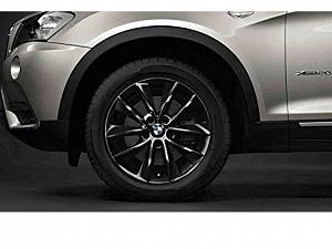 Легкосплавный колесный диск (V-образные спицы) 307 для BMW X4 F26