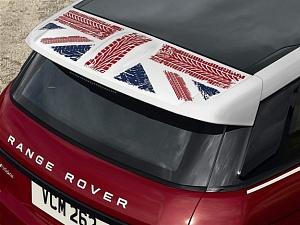 Наклейка графика заднего спойлера Union Jack для Range Rover Evoque