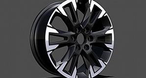 Колесный диск Polished / Glossy Black R21 Modellista для Toyota Land Cruiser 300