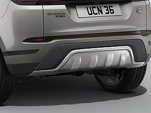 Задний элемент защиты нижней части кузова из нержавеющей стали для Range Rover Evoque