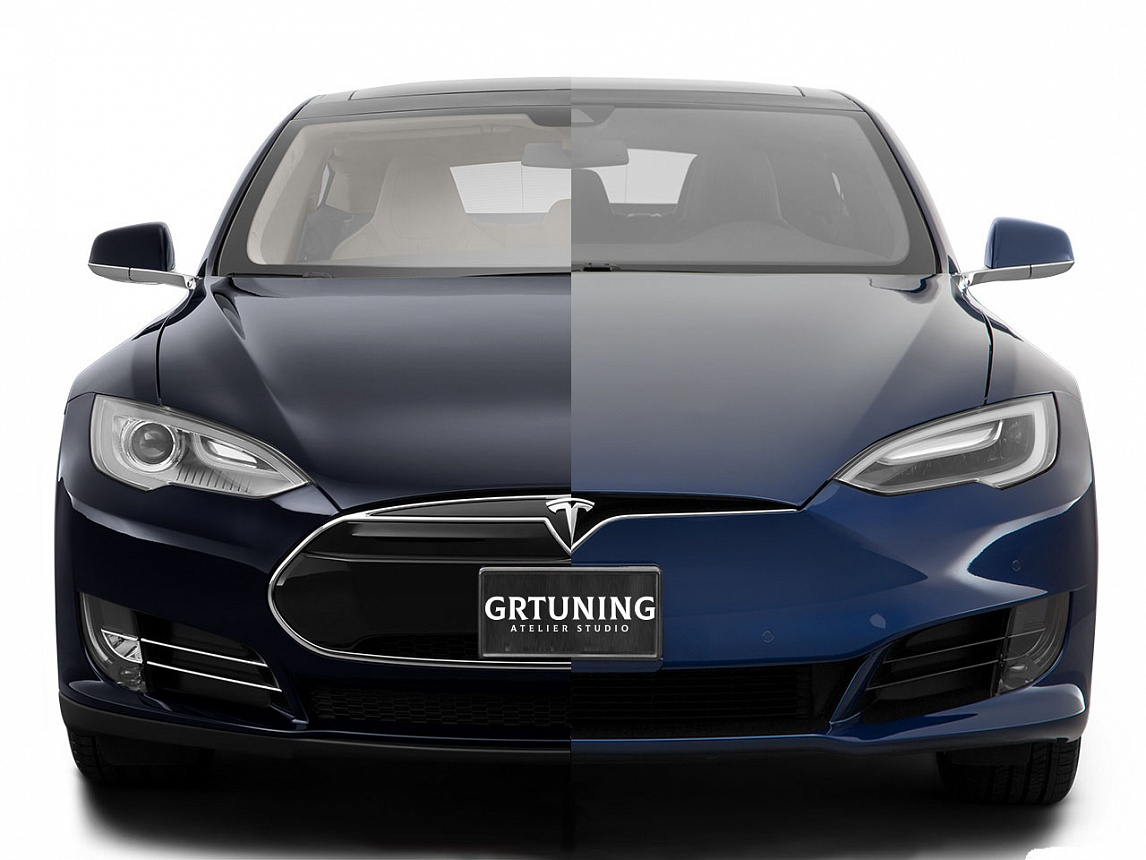 Рестайлинговый бампер для Tesla Model S