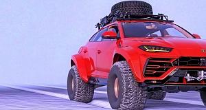 Культовый автомобиль Lamborghini Urus превратился в непревзойденный вездеход для покорителей Северного полюса