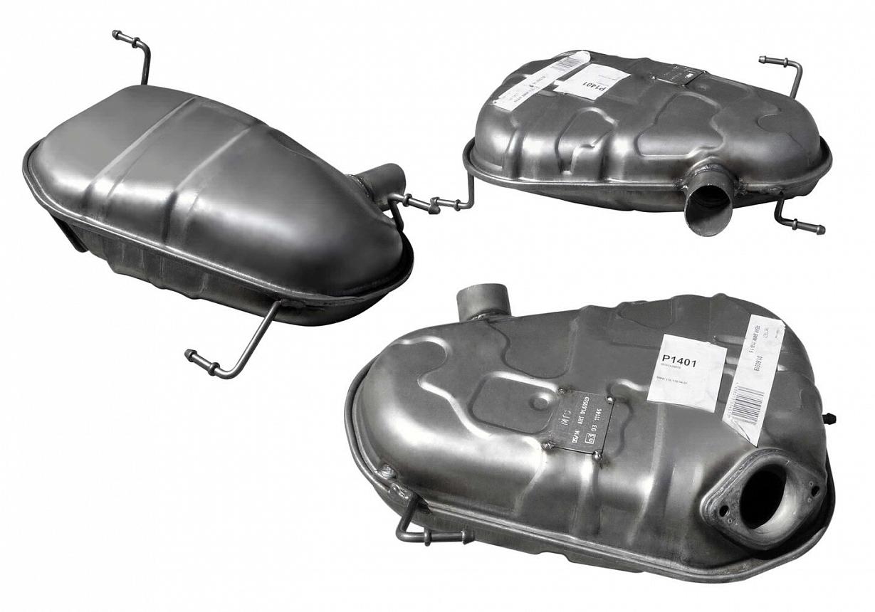 Задний дополнительный глушитель для BMW 1 Series E81/E87