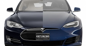 Restyle bumper for Tesla Model S