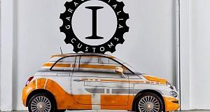 Тюнинг Fiat 500 в стиле героев RD-D2 и BB-8 из «Звездных войн»