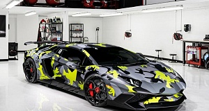 Novitec Torado с работой Lamborghini Aventador SV Camouflage Bull