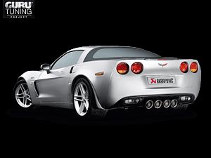 Выхлопная система Akrapovic для Chevrolet Corvette ZO6/ZR1 (C6) 2011