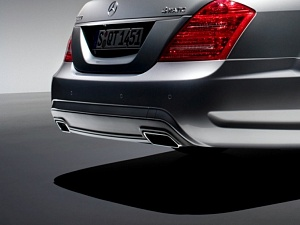 AMG Насадки на глушители для Mercedes S-Class (W221) 2010
