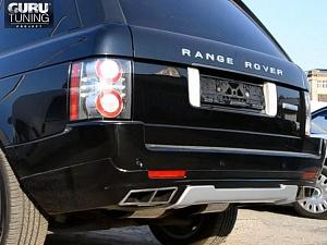 Выхлопная система на Range Rover Vogue