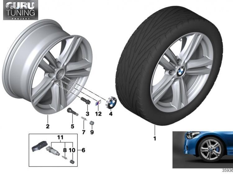 Диски BMW дизайн 386 для BMW 2-series F23