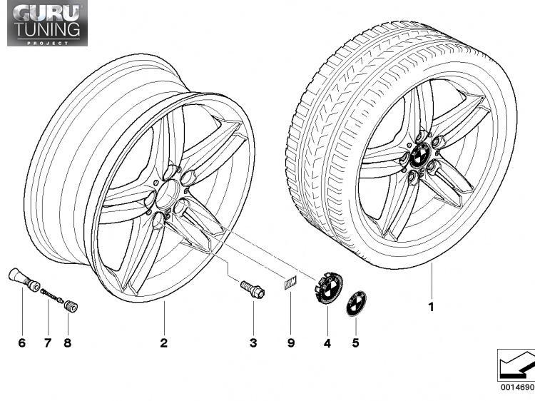Диски BMW  дизайн 208  для BMW 1-series (E82/E88)