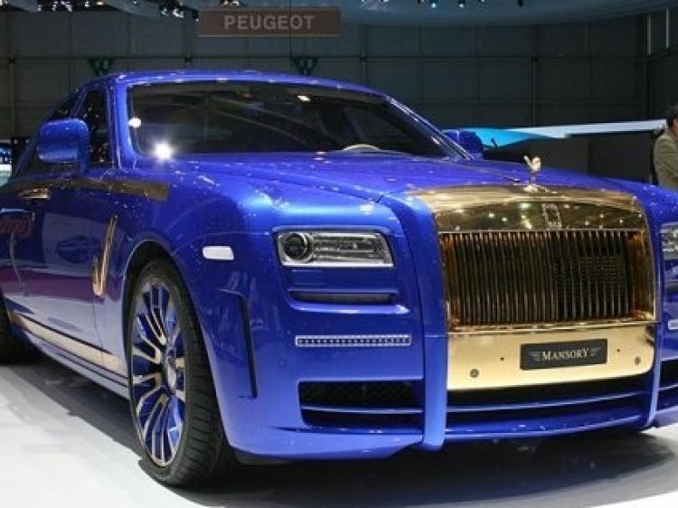 Rolls-Royce Ghost — сине-золотая мечта от Mansory