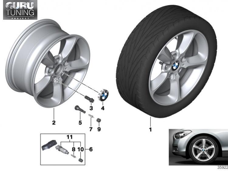 Диски BMW дизайн 382 для BMW 2-series F23