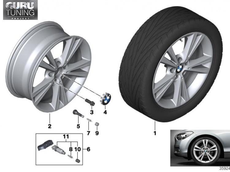 Диски BMW дизайн 385 для BMW 2-series F23