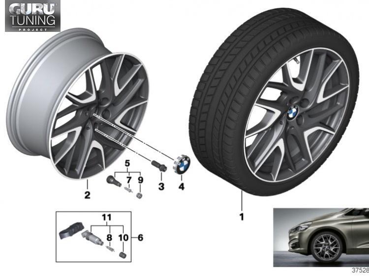 Диски BMW дизайн 487 для BMW 2-series Active Tourer F45