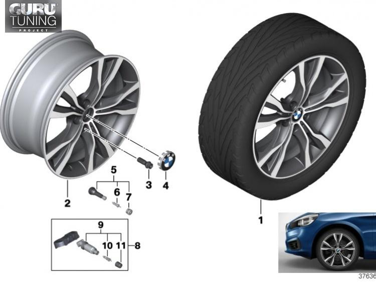 Диски BMW дизайн 484 для BMW 2-series Active Tourer F45