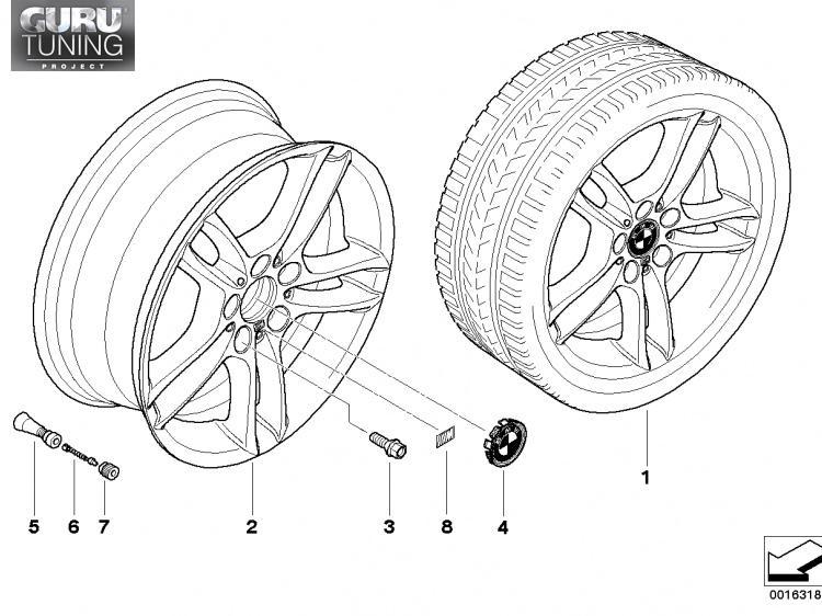 Диски BMW  дизайн 262 для BMW 1-series (E82/E88)