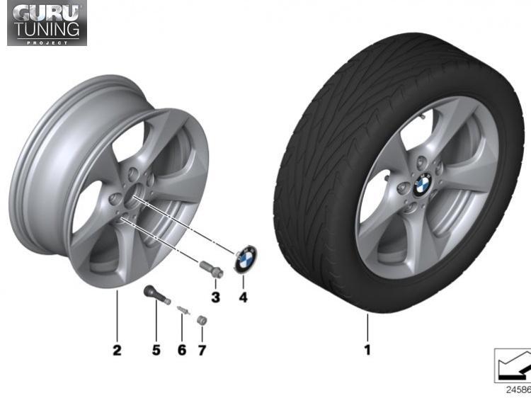 Диски BMW  дизайн 371 для BMW 1-series (E82/E88)