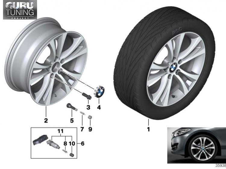 Диски BMW дизайн 384 для BMW 2-series F23