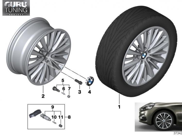 Диски BMW дизайн 481 для BMW 2-series Active Tourer F46