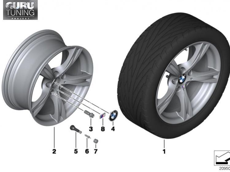 Диски BMW дизайн 325 для BMW Z4 E89