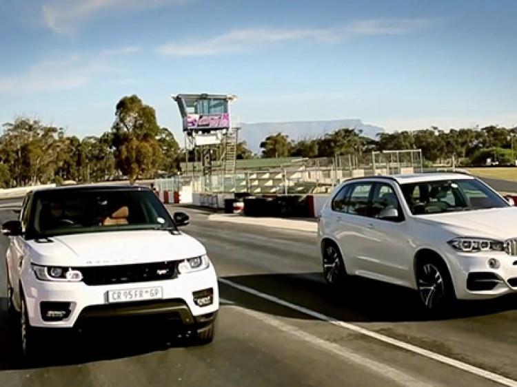 BMW X5 F15 M50d vs Range Rover Sport – Drag [Видео]