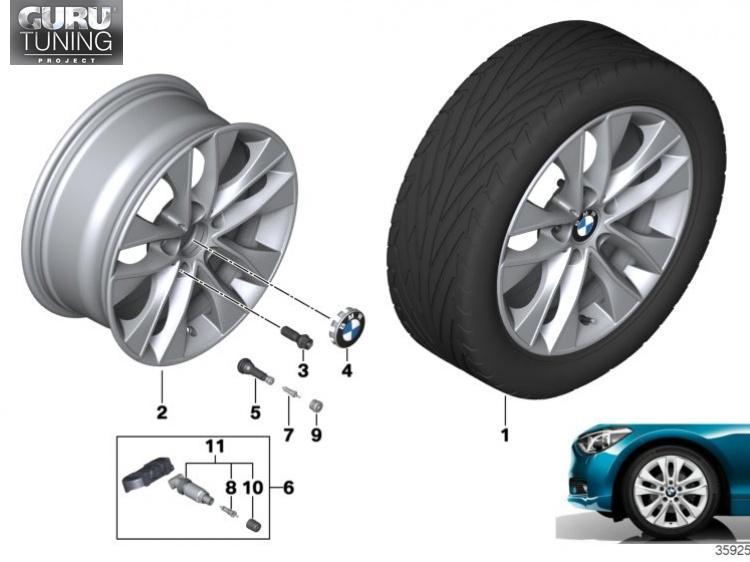 Диски BMW дизайн 412 для BMW 2-series F23