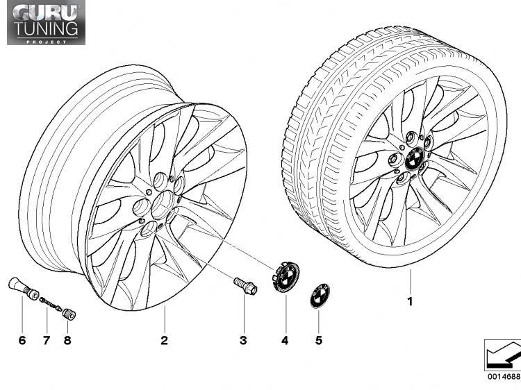 Диски BMW  дизайн 217  для BMW 1-series (E82/E88)