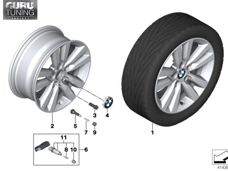 Диски BMW дизайн 655 для BMW 2-series F23