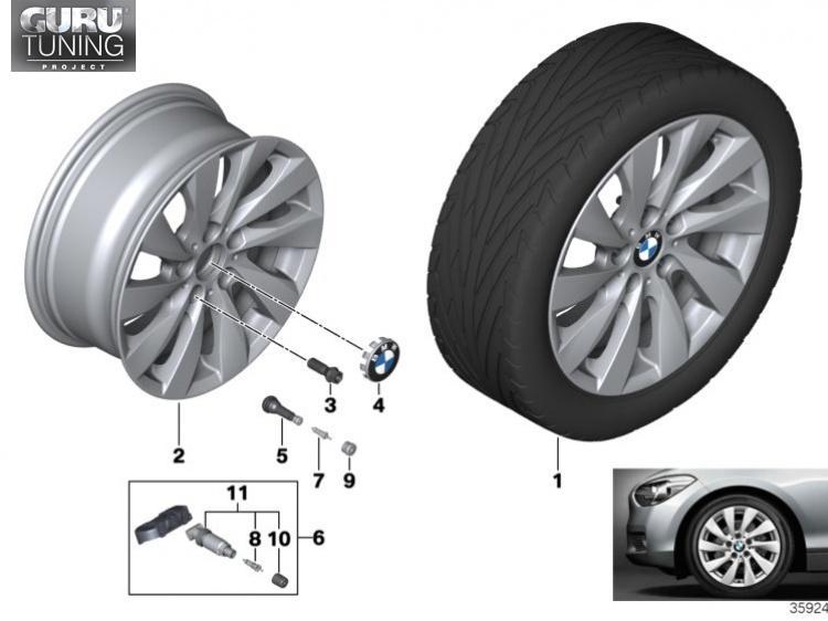 Диски BMW дизайн 381 для BMW 2-series F23
