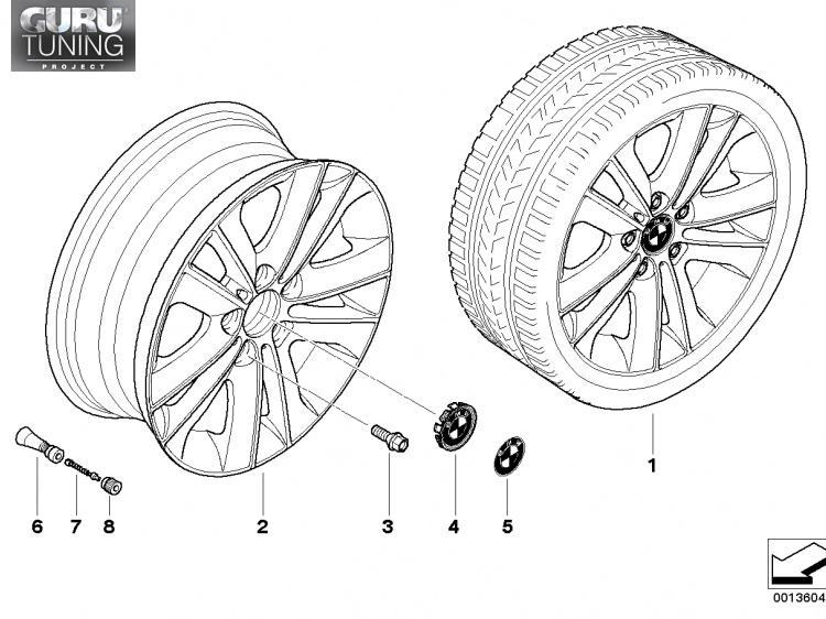 Диски BMW  дизайн 141 для BMW 1-series (E82/E88)