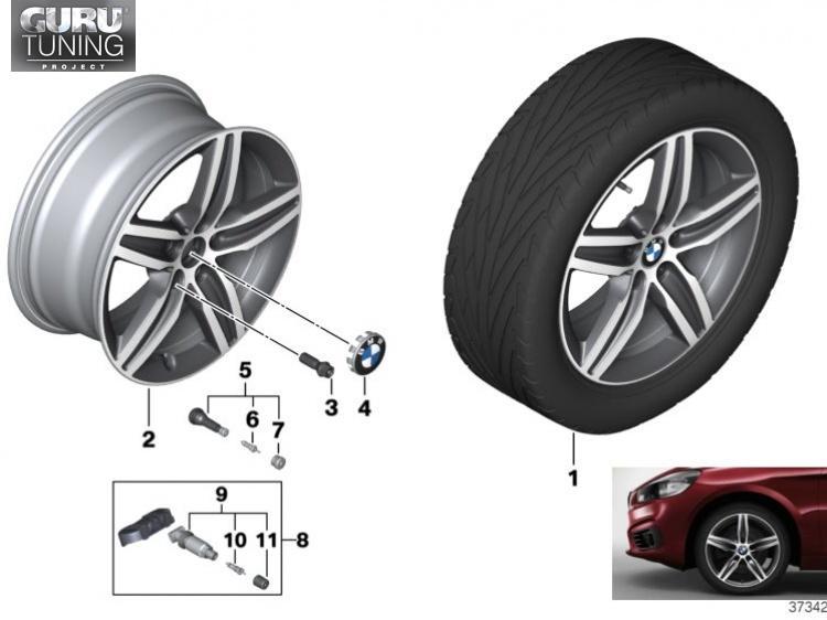 Диски BMW дизайн 379 для BMW 2-series Active Tourer F45