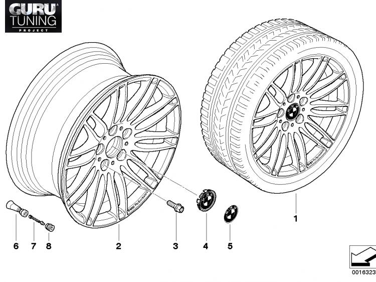 Диски BMW  дизайн 269 для BMW 1-series (E82/E88)