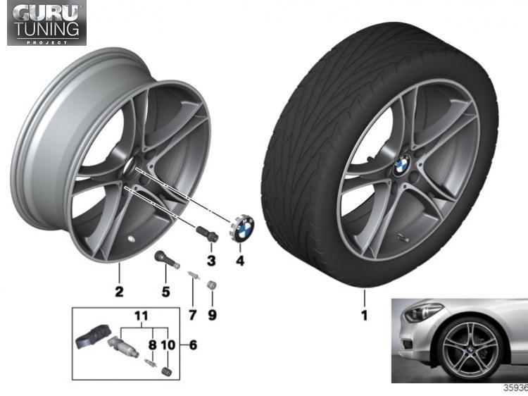 Диски BMW дизайн 361 для BMW 2-series F23