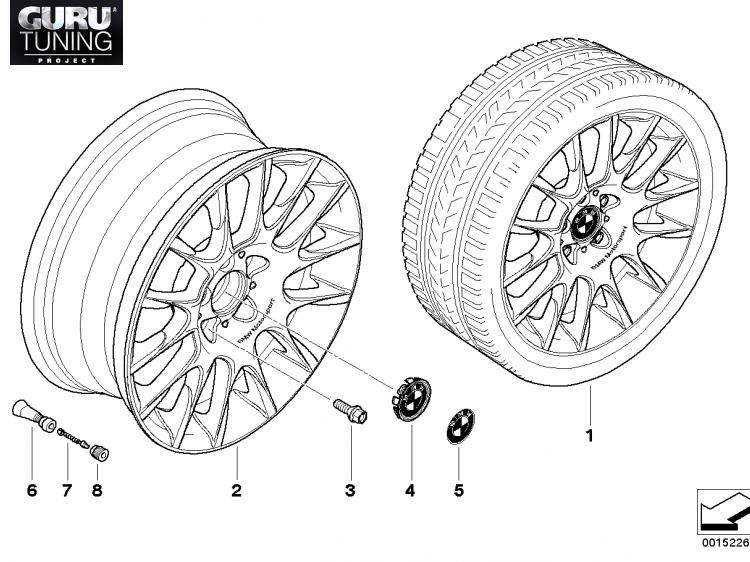 Диски BMW  дизайн 216 для BMW 1-series (E82/E88)