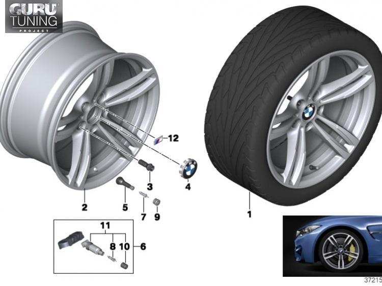Диски BMW дизайн 437M  для BMW 2-series F22