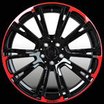диски Brabus Monoblock R Red&Black